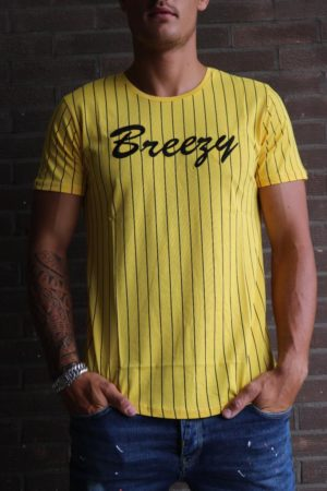 Breezy base stripe yellow T-shirt