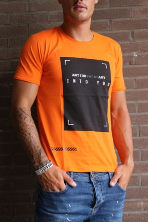 Into you orange T-shirt