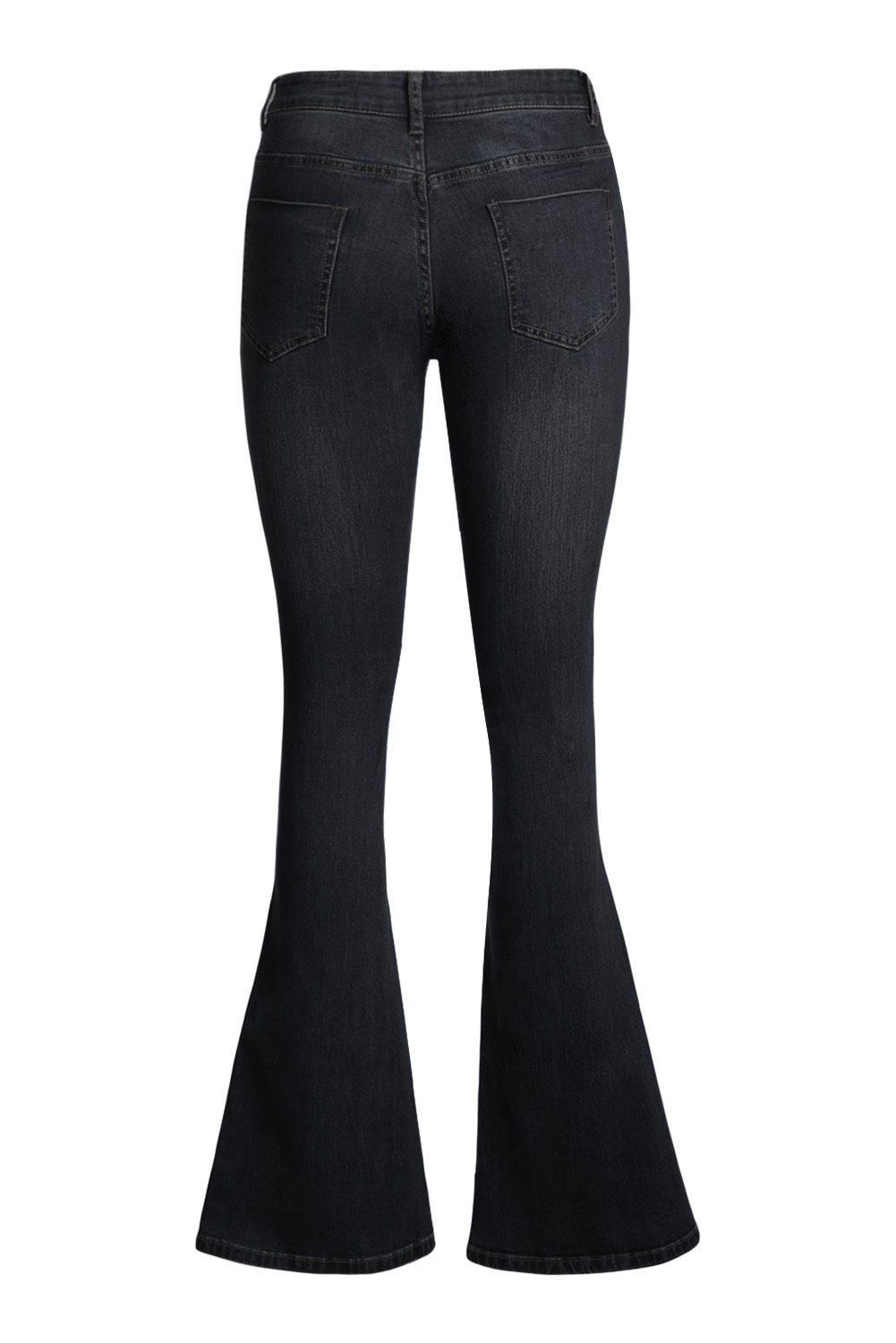 Blackwash vintage wide leg jeans