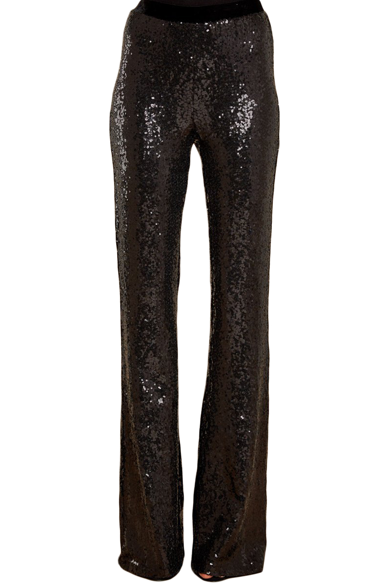 Eye-catching sequin wide leg pants